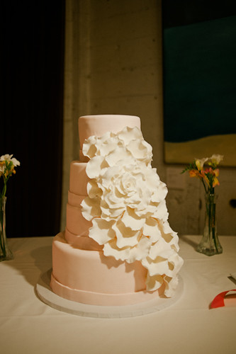 Custom Floral Wedding Cake | by Sweet Lauren Cakes