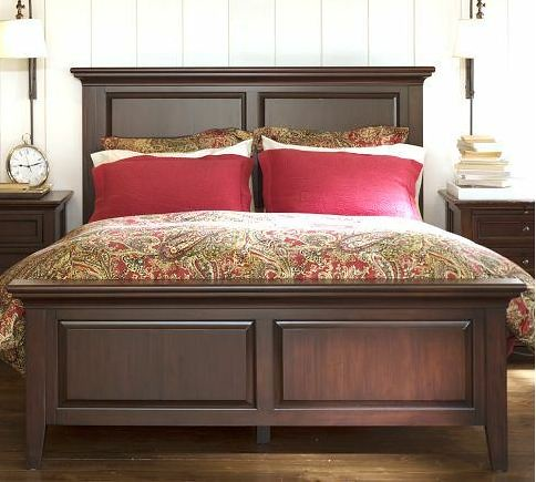 Pottery Barn Hudson King-sized Bed Frame | Only used for a c… | Flickr