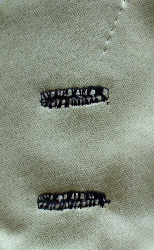 55 The reverse of the sleeve buttonholes. | by annrowley
