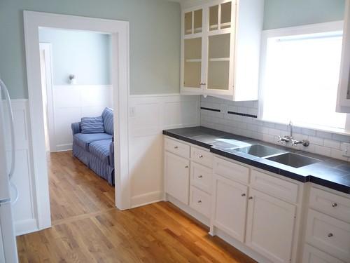 Tile Kitchen Hardwood Dining Room