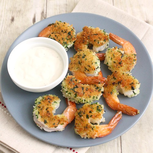 Crispy Herbed Shrimp with Chive Aioli | by Tracey's Culinary Adventures