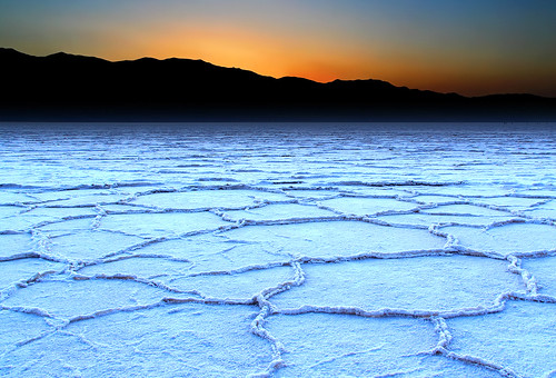 Badwater Salt Flats at Sunset | by Dave Toussaint (www.photographersnature.com)