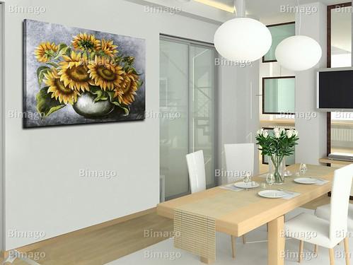 sonnenblumen in der vase f r ein helles und freundliches a flickr. Black Bedroom Furniture Sets. Home Design Ideas