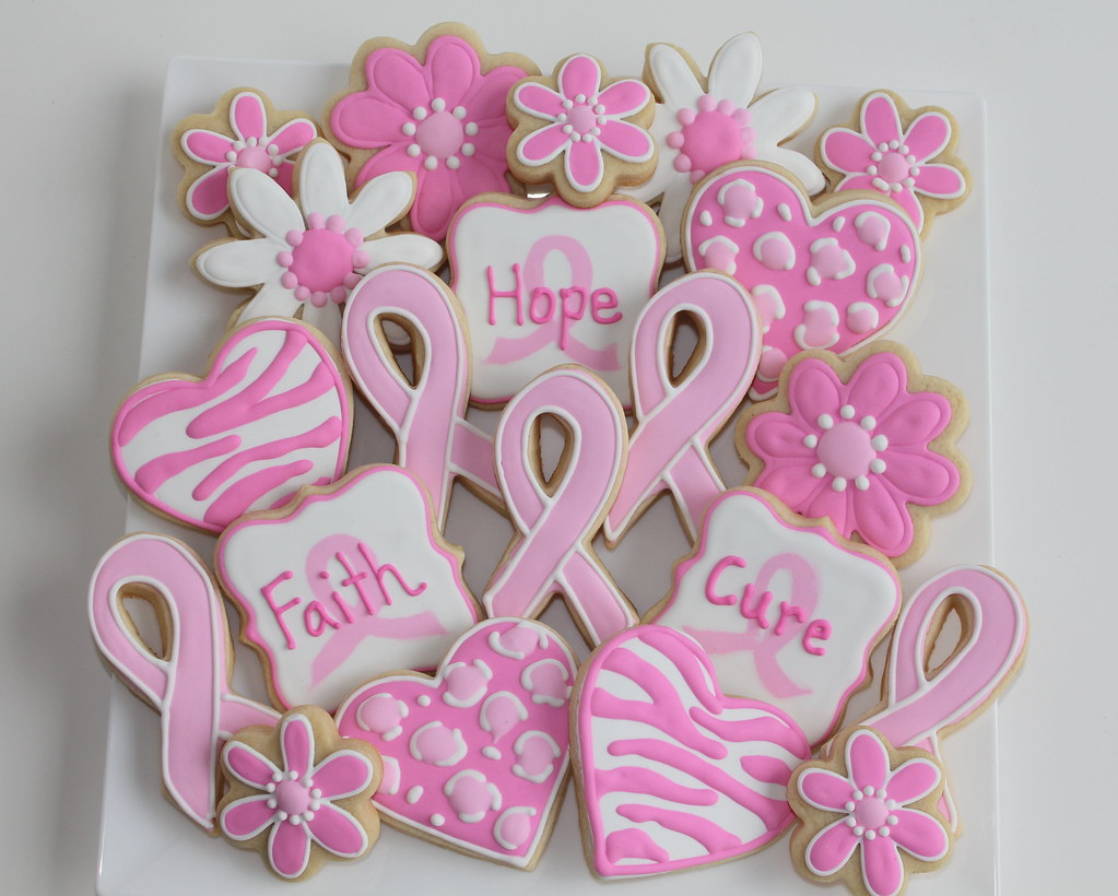 Pink ribbonflowershearts cookies a platter for a neighbo flickr pink ribbonflowershearts cookies by popmom2 mightylinksfo