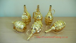 Grenade Gold x 6 | by PureGoldPlating