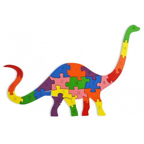 Lắp ghép đồ chơi gỗ - con khủng long peppi