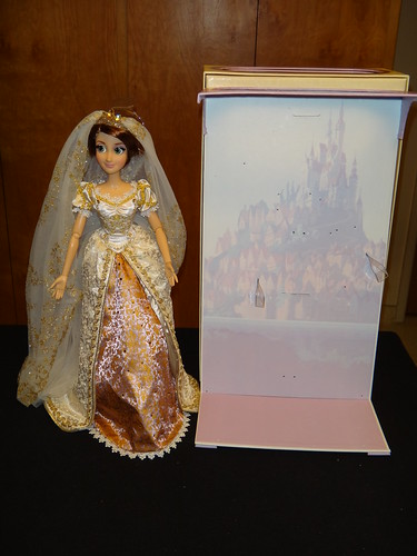 Limited Edition 17'' Rapunzel Wedding Doll - Deboxing - Freed From Diorama - Standing Next To Diorama | by drj1828