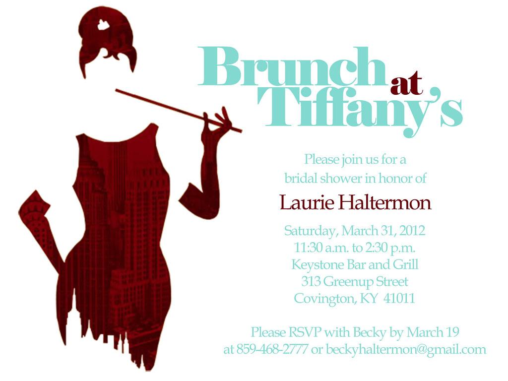 Breakfast at Tiffany\'s Bridal Shower Invitation | Becky Haltermon ...
