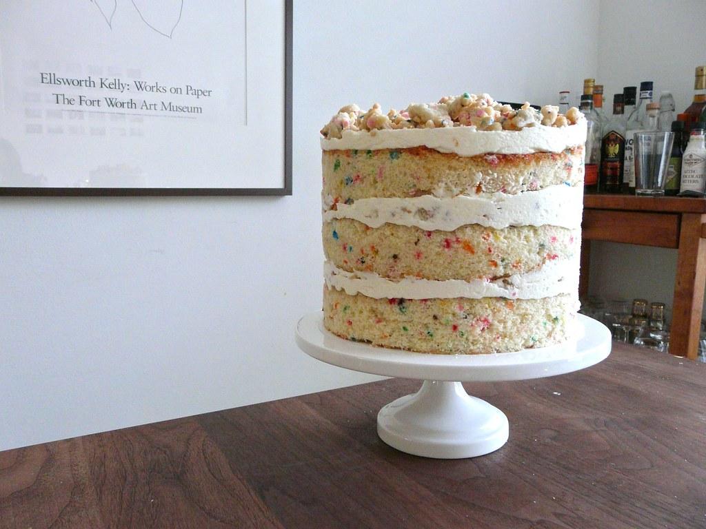 Momofuku Milk Bar birthday cake I tripled the recipe to ma Flickr