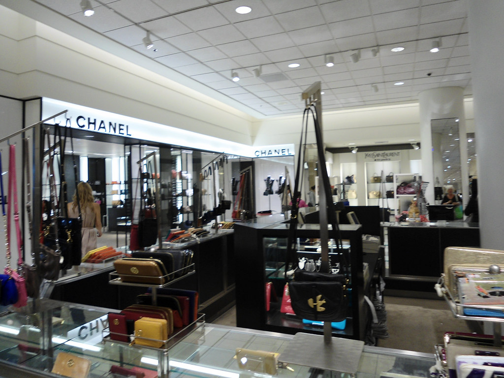 Nordstrom downtown Seattle- Chanel and Yves Saint Laurent ...