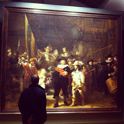 Today I was in the presence of two art Gods. Van Gogh and Rembrandt. This one is the original Night Watch. I can stay and look at his work for hours. #wow | by DClektrik