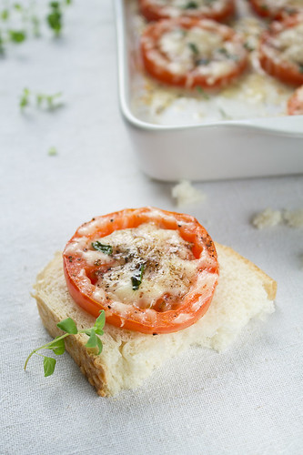 Parmesan Baked Tomatoes | by Migle Seikyte