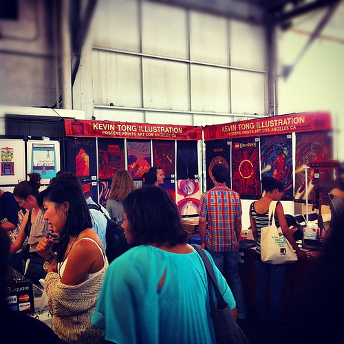 My booth, 205, at Renegade Craft Fair San Francisco, Fort Mason Center | by Kevin Tong Illustration