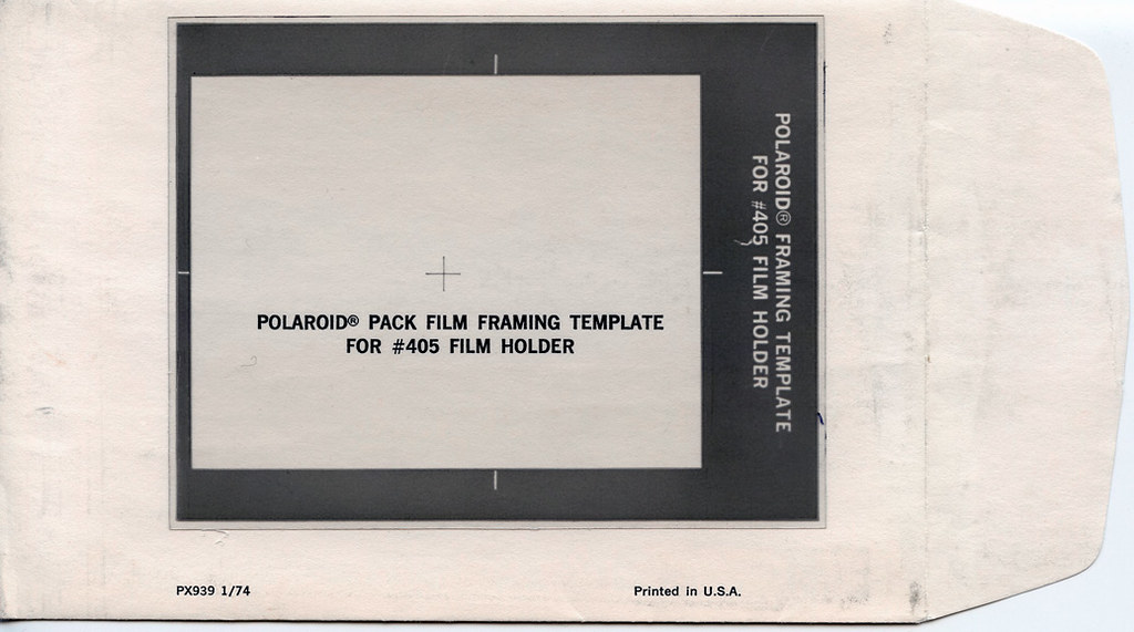 Polaroid Pack Film Framing Template For  Film Holder  Flickr