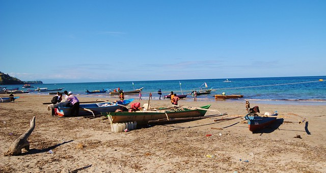 Fishing boats in Timor Leste. Photo by Jennifer King, 2012.