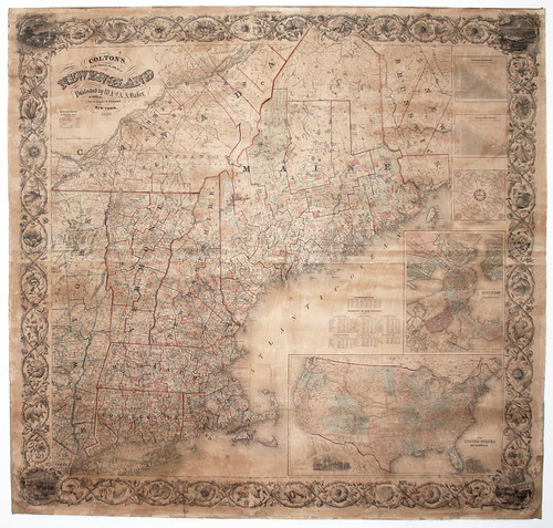 Colton's New Steel Plate Map of New England | by uconnlibrariesmagic