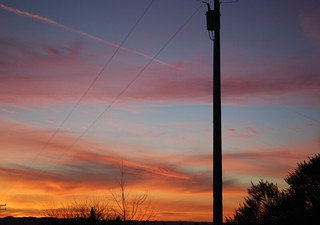 Electricity and a fire sky March 2012 | by Judy's Notebook