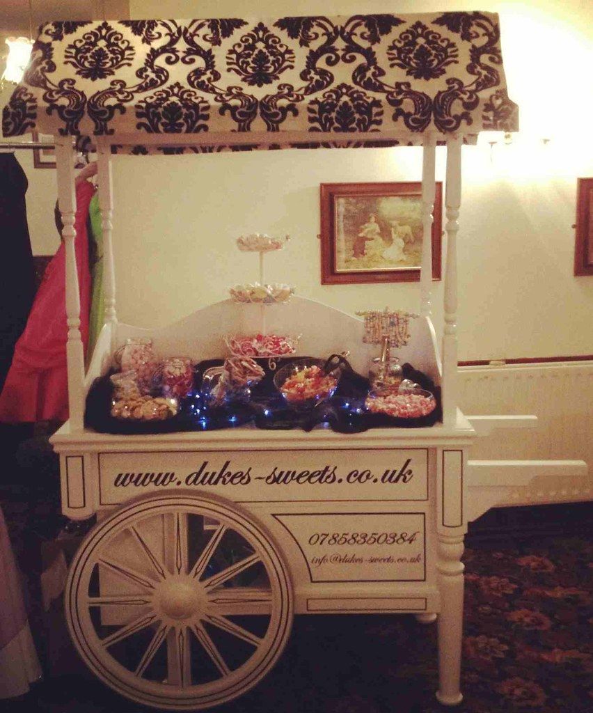 victorian candy cart with logo 2 our victorian candy cart flickr
