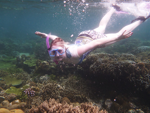 Naomi snorkelling Pig Island | by Greg Miles