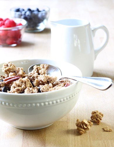 Michael's Maple-Pecan Granola With Dried Cherries and Blueberries | by Michael Beyer Photography