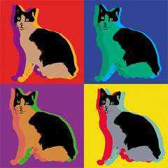 egyptian cat pop art print custom pop art warhol style pri flickr