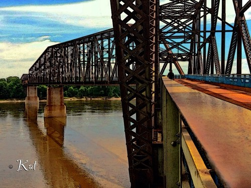 Route 66 Chain of Rocks Bridge | by kat_scratched