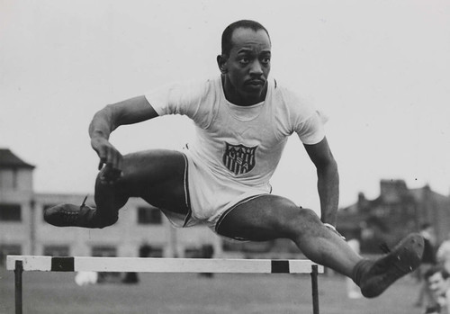 Harrison Dillard in the hurdles, Olympic Games, London, 1948. | by National Science and Media Museum