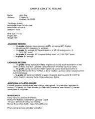 Resume Tim Hortons Example