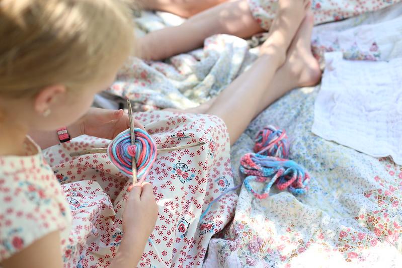 playing with yarn