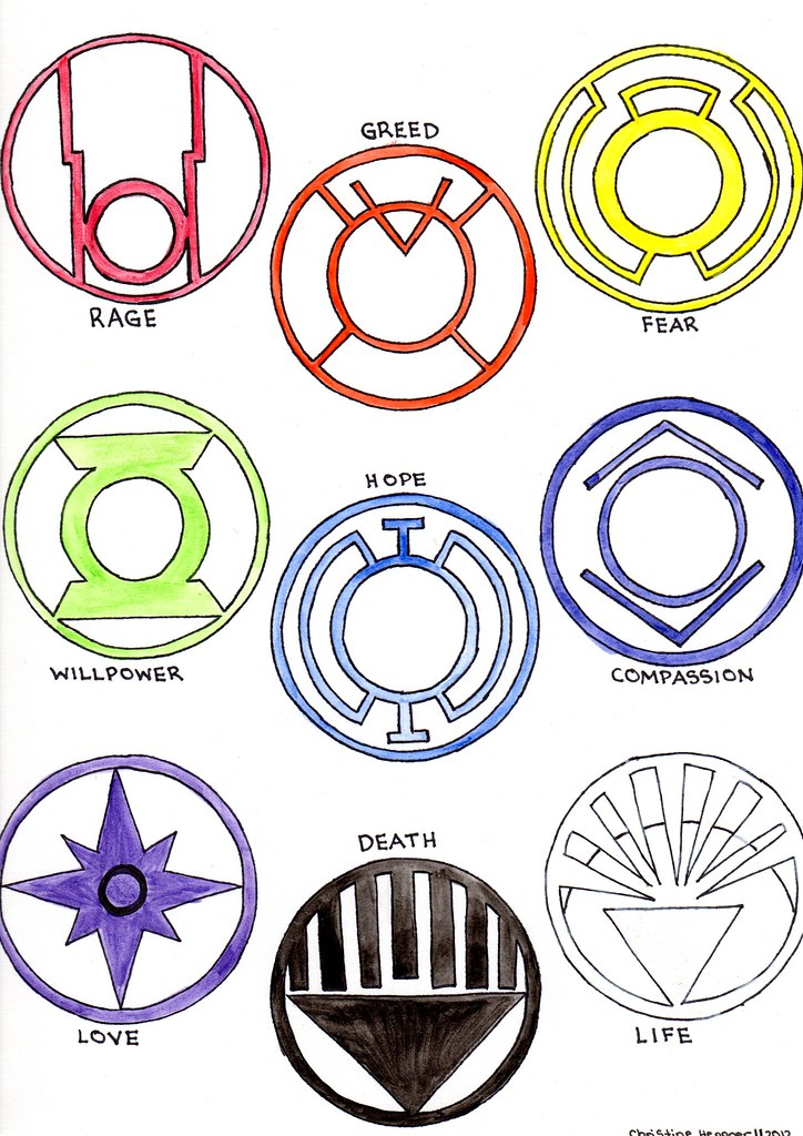 Power Ring Corps Symbols Watercolour Red Ragered Lante Flickr