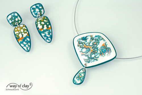 rocks pendant according to Melanie Muir | by way of clay