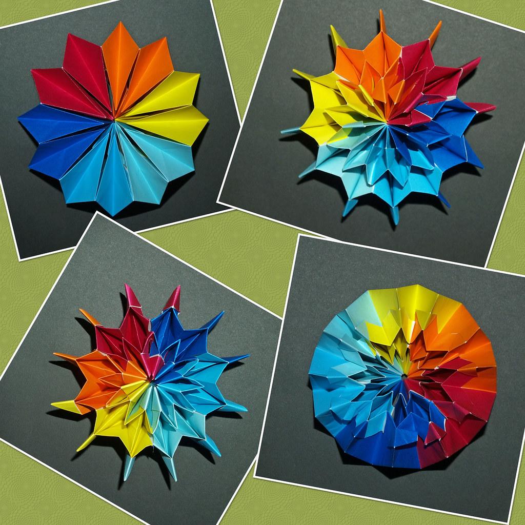 Fireworks Designer Yami Yamauchi 12 Unit Version 15x15 C Flickr Origami Diagram By Mganans
