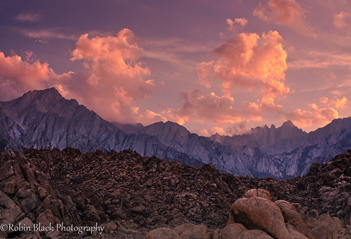Sunset, Eastern Sierra and Alabama Hills | by Robin Black Photography