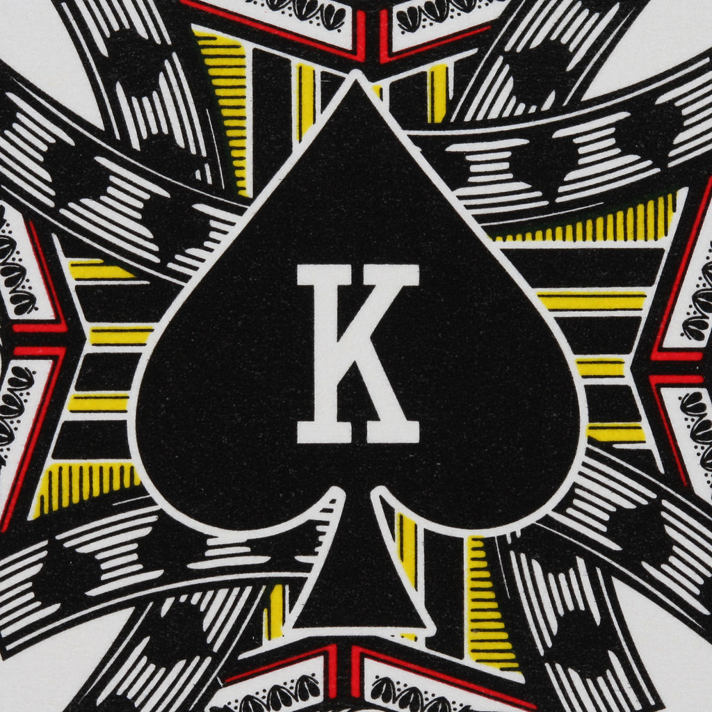 Round Playing Card King Of Spades Leo Reynolds Flickr