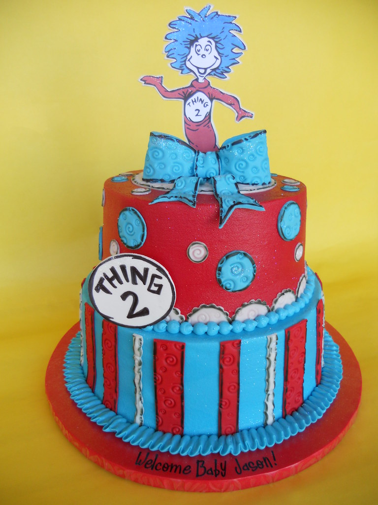 Dr Seuss Thing 2 Baby Shower Cake Amy Stella Flickr