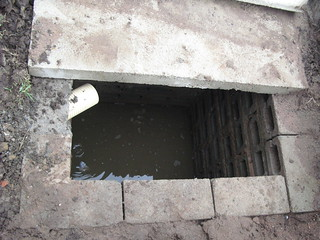 First soak pit of pour flush latrine | by Sustainable sanitation
