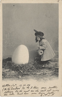 Little Girl with a Big Egg | by Photo_History - Here but not Happy