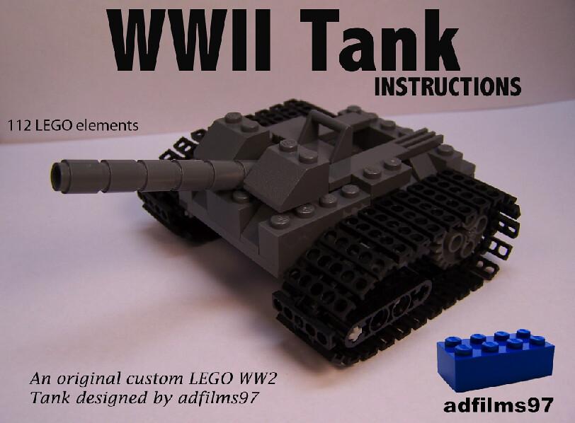 Custom Lego Ww2 Tank Instructions Custom Lego Wwii Tank In Flickr