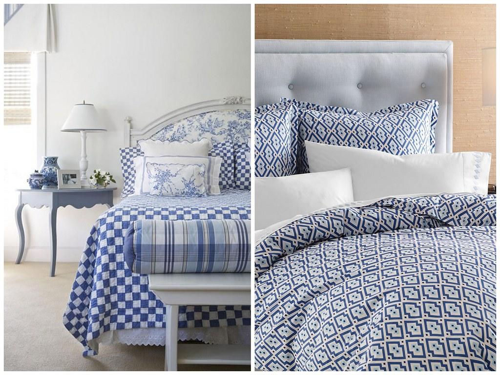 Blue and white bedding -  Blue And White Bedding By Lauratrevey