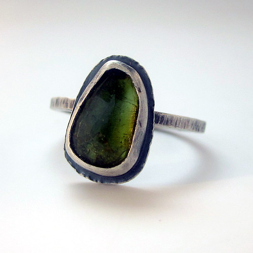 Rose Cut Medieval Rings Green Tourmaline 3 | by sarawestermark