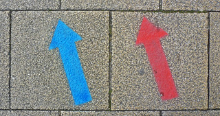 Follow the red and blue arrows | by Tim Green aka atoach