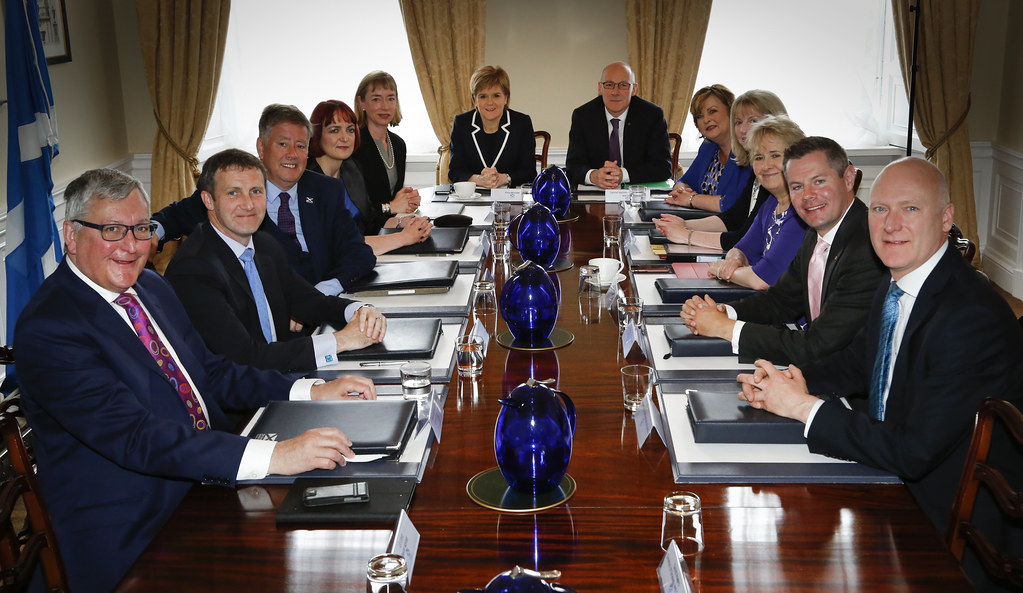 The New Scottish Cabinet Meet At Bute House The First Mini Flickr