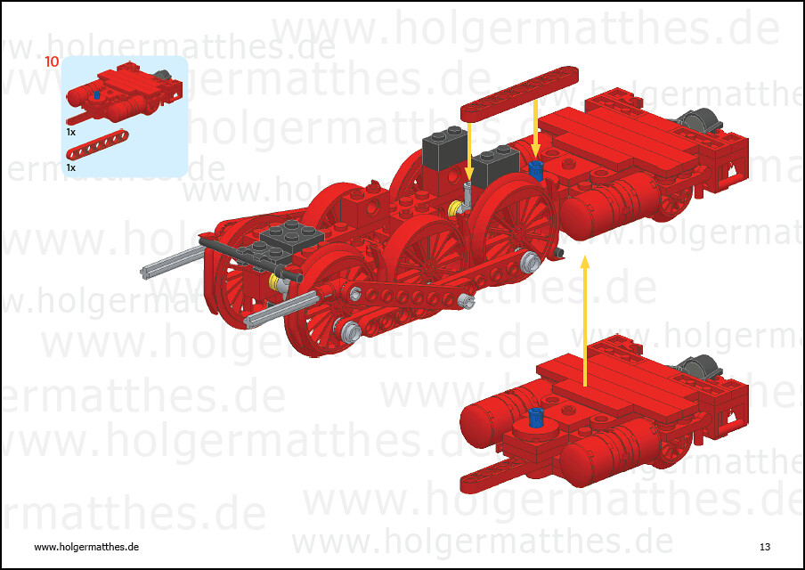 Lego Br 10 Steam Engine Instructions Newly Build Br 10 S Flickr