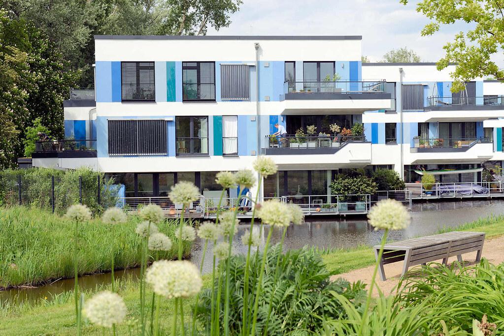 Moderne Architektur / Wohnhäuser Am 0542 Wohnhäuser Am Inselpark /  Neuenfelder Straße In Hamburg Wilhelmsburg. Moderne Architektur / Wohnhäuser  Am