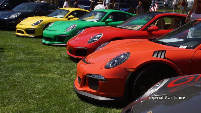 Porschecicles at Steve McQueen Car Show 2016
