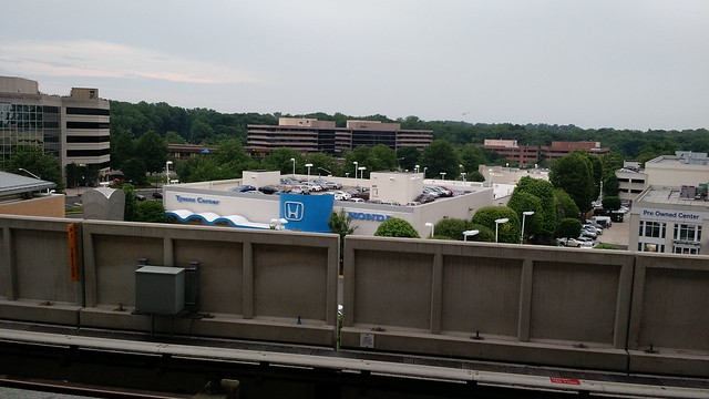 The view of our hotel from the Spring Hill Metro station - Vienna VA - Tysons Corner