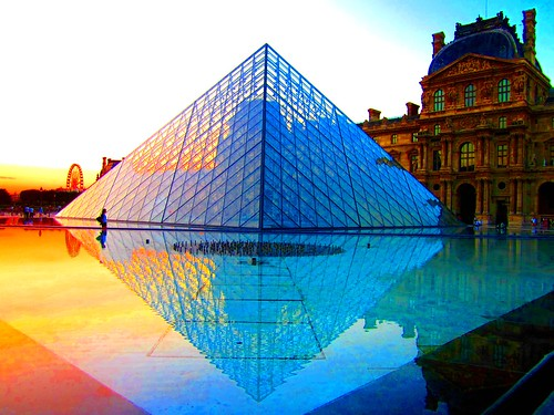 The Louvre Pyramid at sunset | by Peggy2012CREATIVELENZ