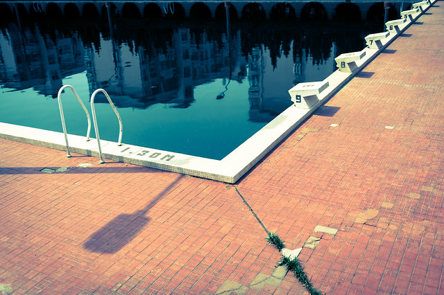Wuhan / 武汉   The black of the pool