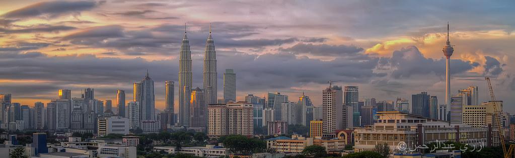 Kuala Lumpur Skyline | 3 frames panorama + 3 exposures per f… | Ezry ...
