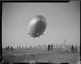 The Hindenburg before she blew up in Lakehurst N.J. | by Boston Public Library